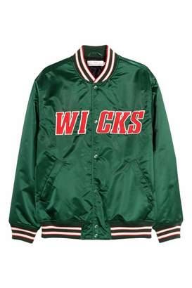 H&M Nylon Baseball Jacket - Green - Men
