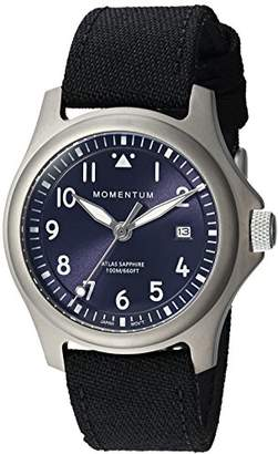 Momentum Men's 'Atlas 38' Quartz Titanium and Canvas Watch