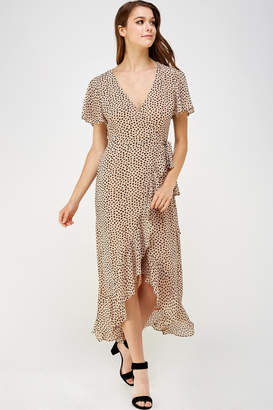 Cotton Candy Ruffle Wrap Dress