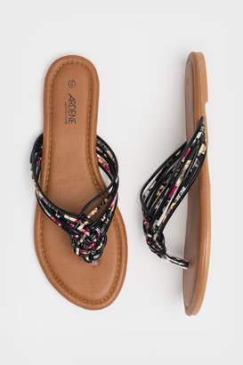 Ardene Braided Strap Flip-Flops