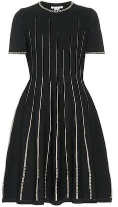 Oscar de la Renta Metallic knit dress