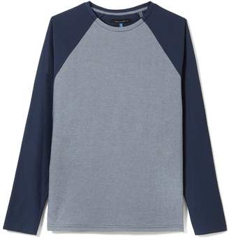 Vince Camuto Mens Mixed-material Baseball T-shirt