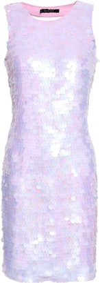 Walter W118 By Baker Cutout Sequined Gauze Mini Dress