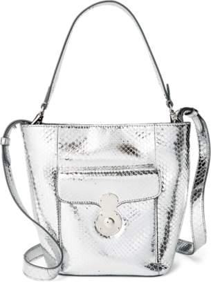 Ralph Lauren Python Mini RL Bucket Bag
