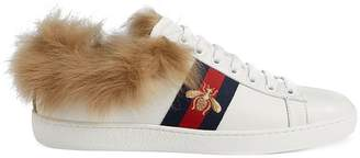 Gucci Ace sneaker with fur