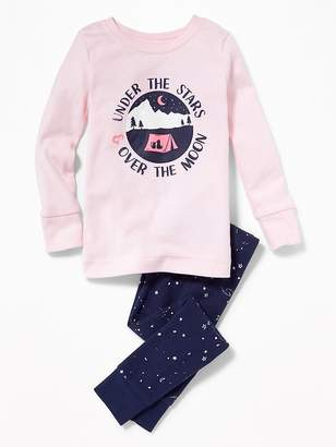 "Old Navy ""Under the Stars & Over the Moon"" Sleep Set for Toddler Girls & Baby"