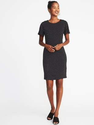 Old Navy Ponte-Knit Flutter-Sleeve Sheath Dress for Women