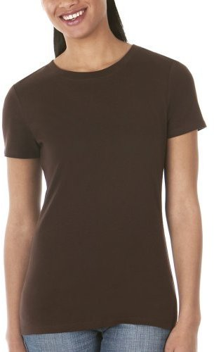 Merona® Crewneck Short-Sleeve Ribbed Tee - Spanish Brown