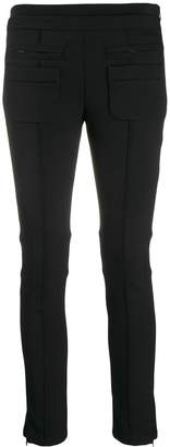 Courreges cropped skinny-fit trousers