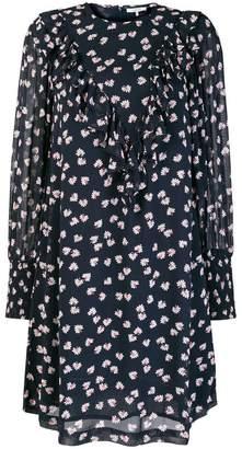 Ganni ruffled floral shift dress