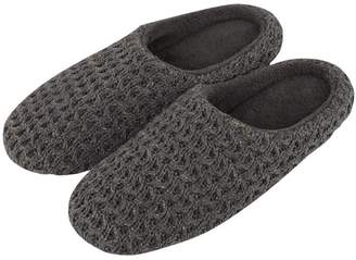 36ab7dfda YUTIANHOME Men s Slippers Knitted Cotton Washable Soft Warm Non-Slip Flat  Closed Toe Indoor Home