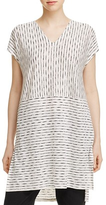 Eileen Fisher Petites Line Print Tunic $188 thestylecure.com