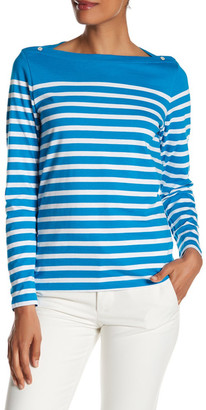 Peter Millar Long Sleeve Boatneck Top $79.50 thestylecure.com