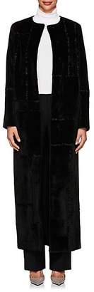 The Row Women's Paycen Fur Long Coat - Black