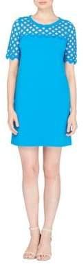 Catherine Malandrino Geometric Yoke Sheat Dress