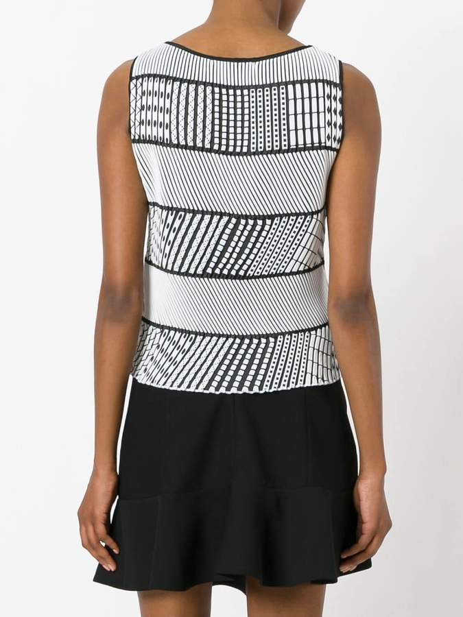 Issey Miyake striped sleeveless top