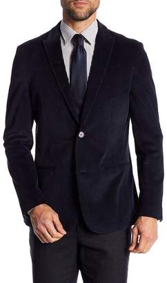 Vince Camuto Two Button Peak Lapel Cord Blazer