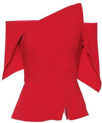 Roland Mouret Scott crêpe top