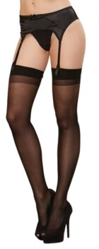 Dreamgirl Sheer Thigh High With Back Seam