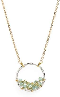 Panacea Crystal Circle Pendant Necklace