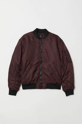 H&M Padded Bomber Jacket - Red