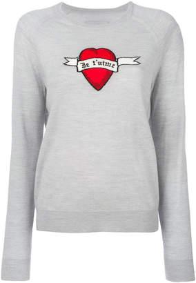 Zadig & Voltaire heart banner jumper