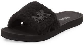 MICHAEL Michael Kors MK Fuzzy Pool Slide Sandals