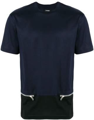 Les Hommes zip embellished T-shirt