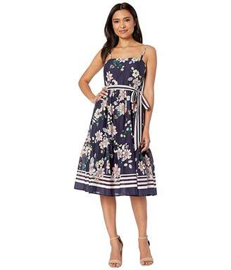 794379cd9 Vince Camuto Printed Cold Shoulder Maxi Dress with Ruffled Skirt