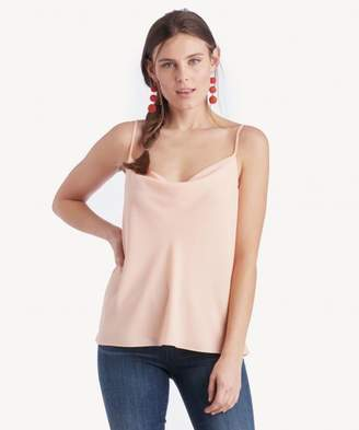 Sole Society Cowl Neck Camisole w/ Draped Back