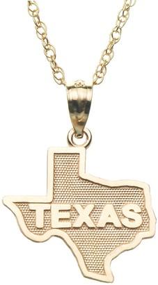 "10k Gold ""Texas"" Pendant"