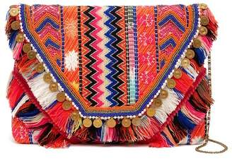 Steve Madden Lainey Woven Embellished Pouch