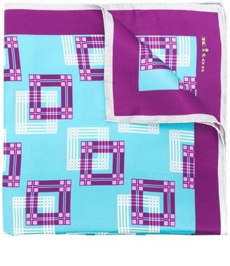 Kiton geometric print scarf