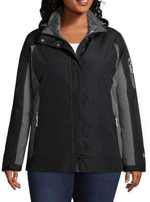Free Country Woven Hooded Water Resistant Heavyweight 3-In-1 System Jacket-Plus