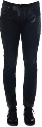 Diesel Black Gold Black Skinny Resin Spots Jeans