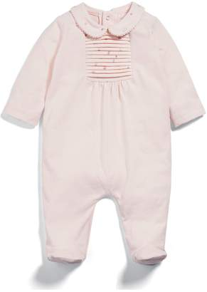 Mamas and Papas Baby Girls Woven Collar All In One