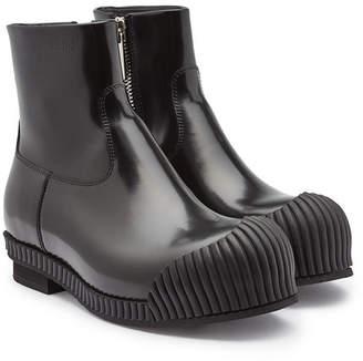 Calvin Klein Deicine Leather Ankle Boots