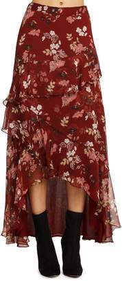 Willow & Clay Ruffle Detail High/Low Skirt