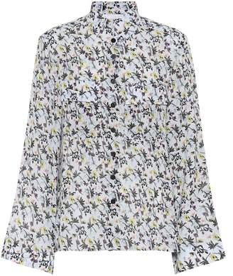 Chloé Floral-printed crêpe blouse