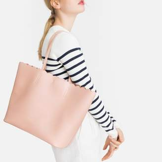 La Redoute COLLECTIONS Scalloped Edge Shopper with Removable Zipped Pouch