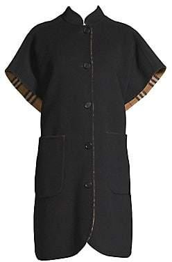 Burberry Women's Reversible Wool Cape Coat