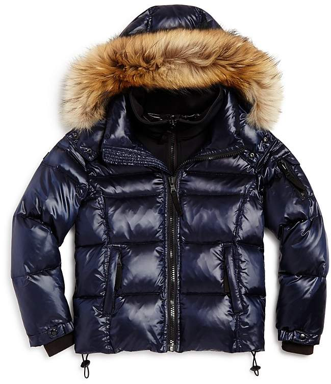 SAM. Boys' Mountain Fur-Trimmed Down Jacket - Little Kid