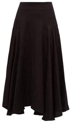 Chloé Flou Thistle Jacquard Midi Skirt - Womens - Black