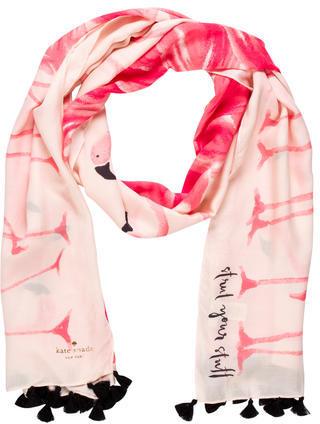 Kate SpadeKate Spade New York Flamingo Print Scarf