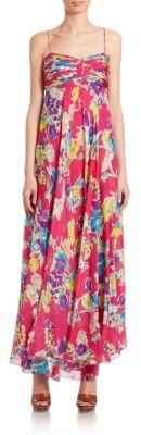 Polo Ralph Lauren Floral Silk Chiffon Maxi Dress $498 thestylecure.com