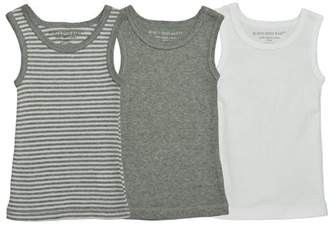 Burt's Bees Baby Multi-Colored Muscle Tanks, 18M, 3 Ct
