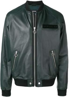 Diesel L-Pins-A leather jacket