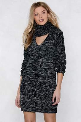 Nasty Gal You Better Believe Knit Baby Sweater Dress