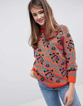 Asos Design DESIGN Sweater In Tapestry Pattern