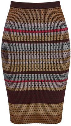 Diane von Furstenberg Knit Maxi Skirt with Metallic Thread